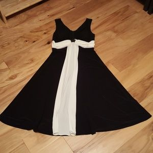 Black/White Holiday Dress